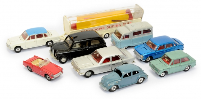 Dinky Toys a group of mainly 1960's Cars