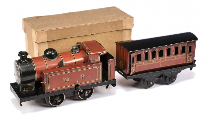 Brimtoy No 490/0 MR Tank Engine and coach