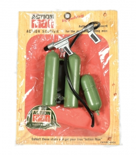 Palitoy Action Man carded Action Soldier Flame Thrower set No.
