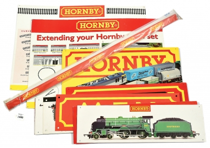 Hornby Shop Posters and Display Boards consisting of P1021 Track