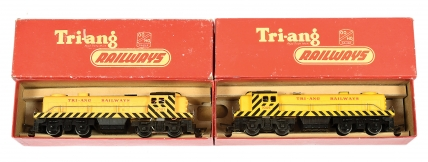 Triang 2 x R155 Bo-Bo yellow Diesel Switcher