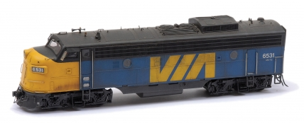 Atlas O Gauge EMD FP-7A in blue, yellow and black
