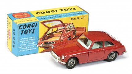 Corgi No.327 MGB GT red body
