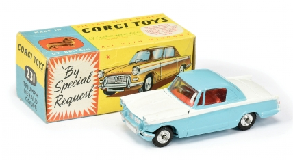 Corgi No.231 Triumph Herald Coupe two-tone white