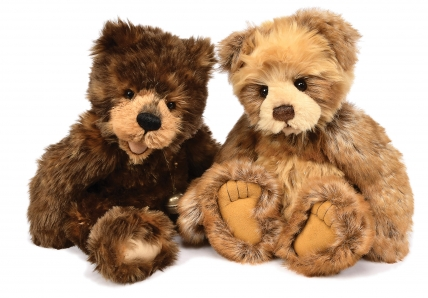 Charlie Bears pair of teddy bears: (1) Nik Nak