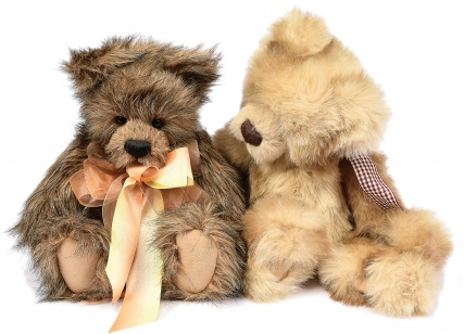 Charlie Bears pair of teddy bears: