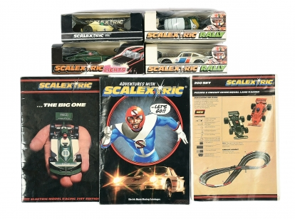 Scalextric a group of boxed Cars