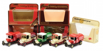Matchbox Models of Yesteryear Y3 Ford Model T Tankers a group