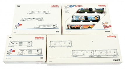 Marklin HO Gauge group of American Freight Car Sets consisting