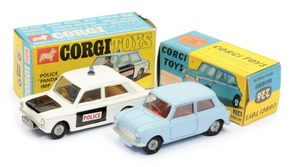 Corgi No.226 Morris Mini Minor - pale blue body