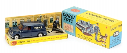 "Corgi No.448 BMC Mini ""Police"" Van - dark blue"
