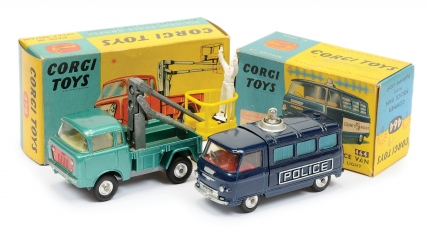 "Corgi No.464 Commer ""Police"" Van (cast sides) - dark blue"