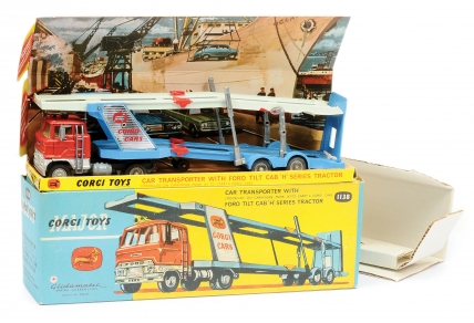 Corgi No.1138 Ford Car Transporter - finished in orange