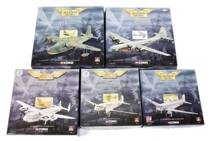 Corgi Aviation Archive 1/144th scale a boxed group -