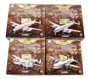 Corgi Aviation Archive 1/144th scale a boxed group Frontier Airliners