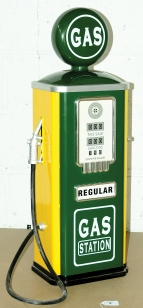 "Large Tinplate ""Gas Station"" Child's Petrol Pump"