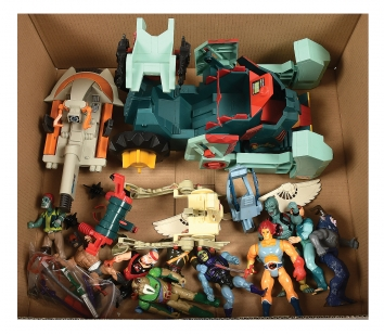 Quantity of LJN Thundercats and Mattel He-Man action figures,