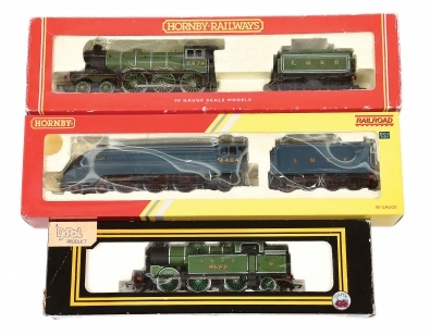 OO Gauge LNER Steam Locos comprising Hornby