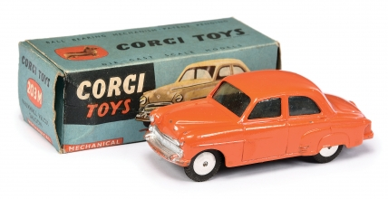 Corgi No.203M Vauxhall Velox Saloon - orange body