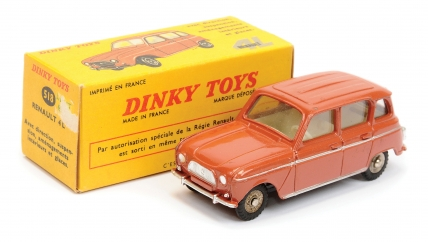 French Dinky No.518 Renault 4L - brown body