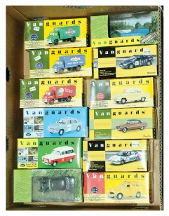 Vanguards a group of boxed Cars and Commercials