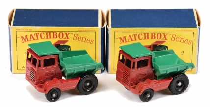Matchbox Regular Wheels 2 x No.2c Muir Hill Site Dumper