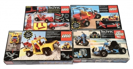 Lego Technic sets numbers 854, 8845, 8030 and 8846
