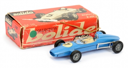 Solido 142 Alpine F111 Racing Car - blue body, cast hubs
