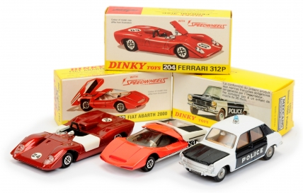 Dinky Toys group of Cars