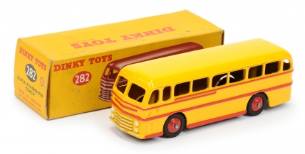 Dinky 282 Duple Roadmaster Coach - yellow