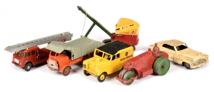 Unboxed British made group to include Benbros Ruston Bucyrus;
