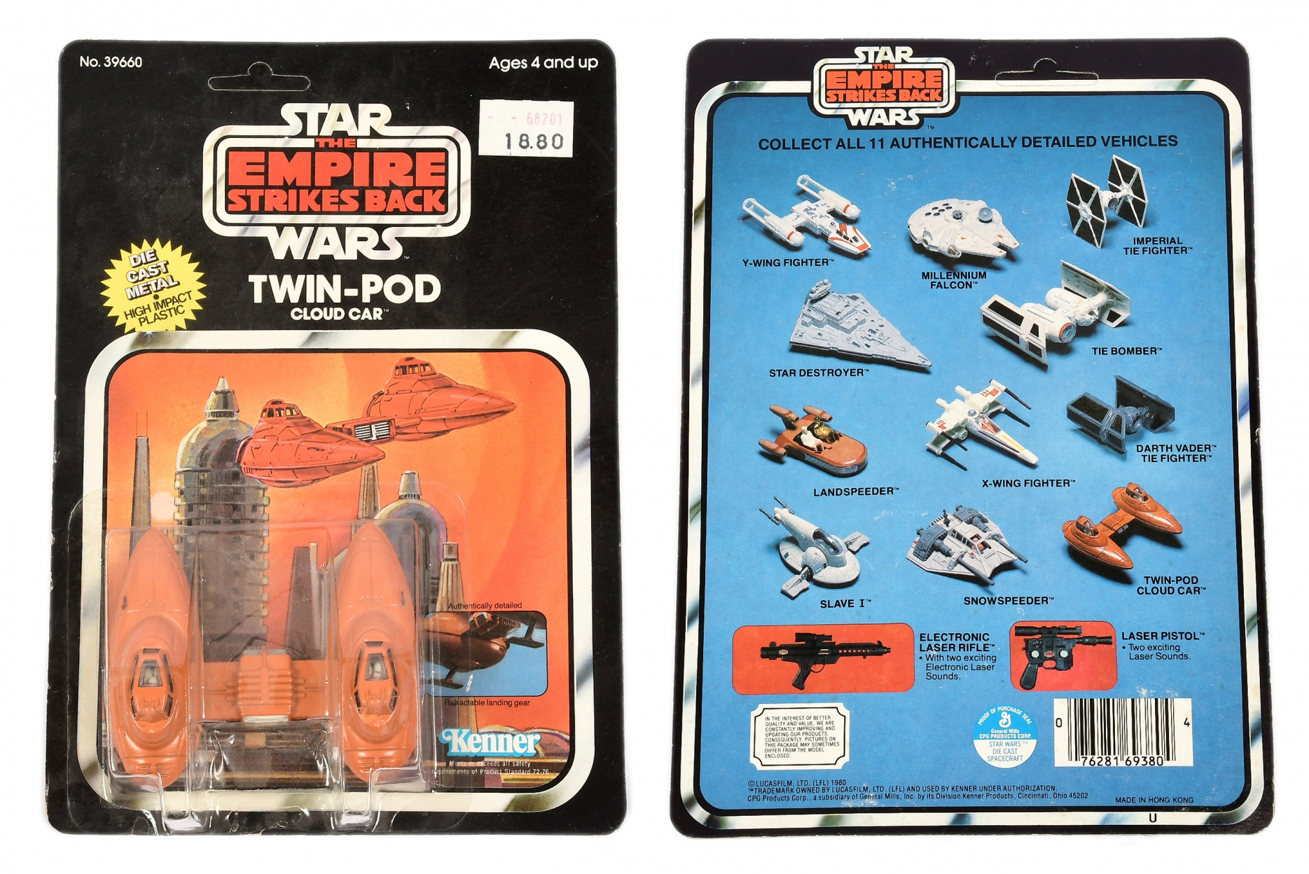 Kenner Star Wars The Empire Strikes Back vintage diecast Cloud