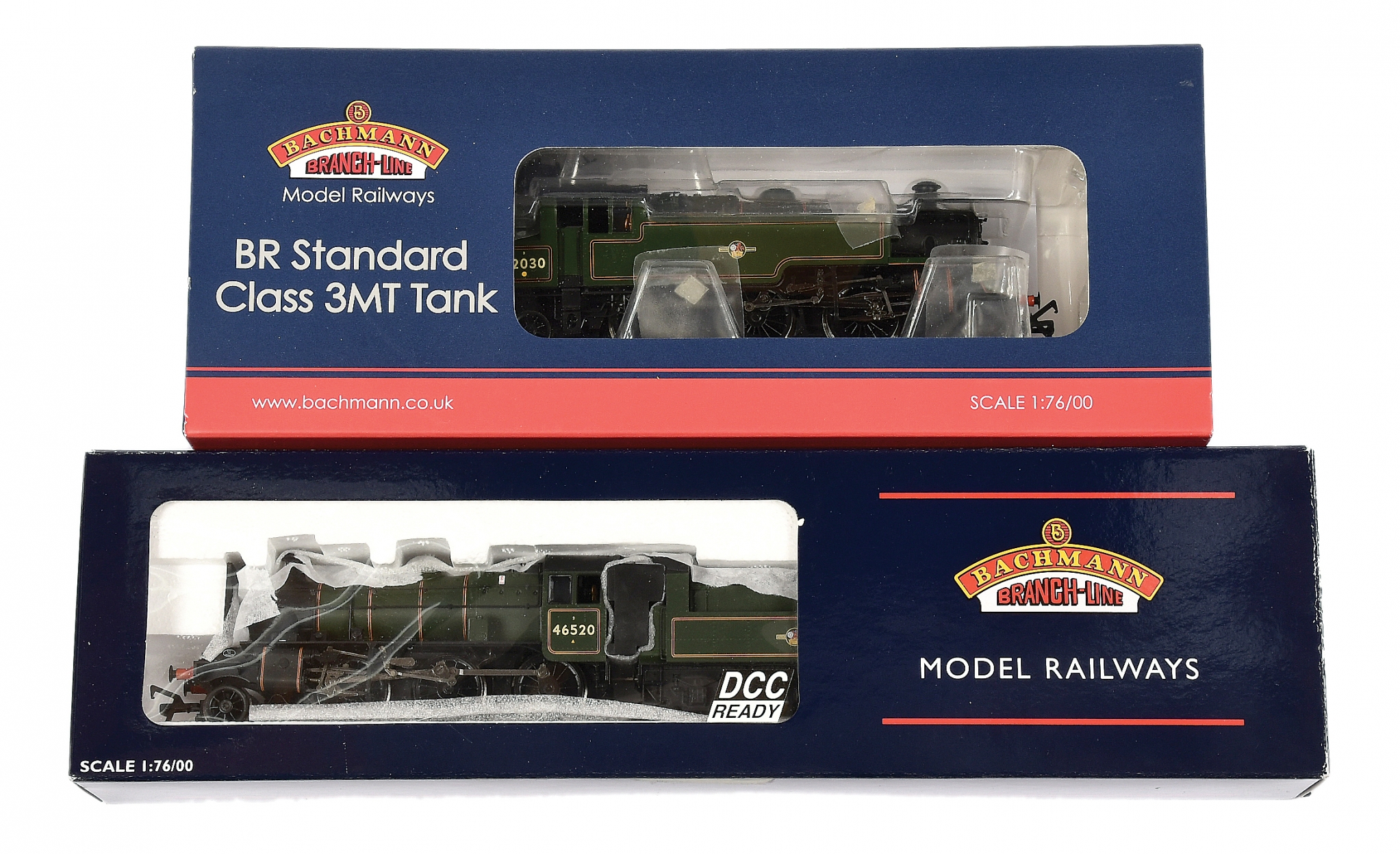 Bachmann OO Gauge BR green Steam Locos comprising 31-976A 2-6-2